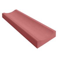 Желоб водосточный красный 360x160x60