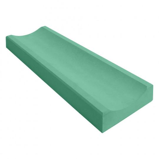 Желоб водосточный бетонный зеленый 360x160x60