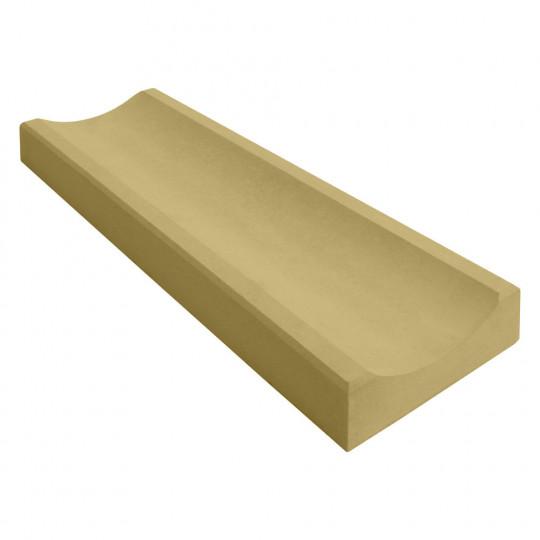 Желоб водосточный бетонный желтый 360x160x60
