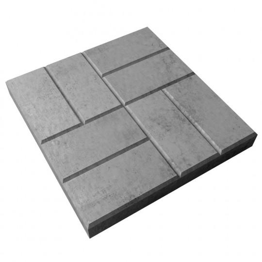 Тротуарная плитка 8 кирпичей серая 400х400х50 мм