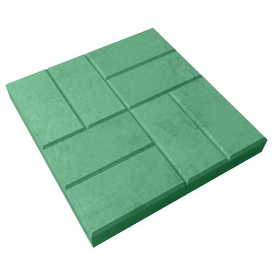 Тротуарная плитка 8 кирпичей зеленая 400х400х50 мм