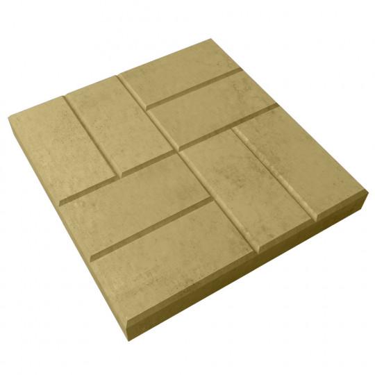 Тротуарная плитка 8 кирпичей желтая 400х400х50 мм