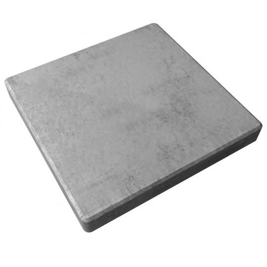 Тротуарная плитка гладкая серая 500х500х60 мм