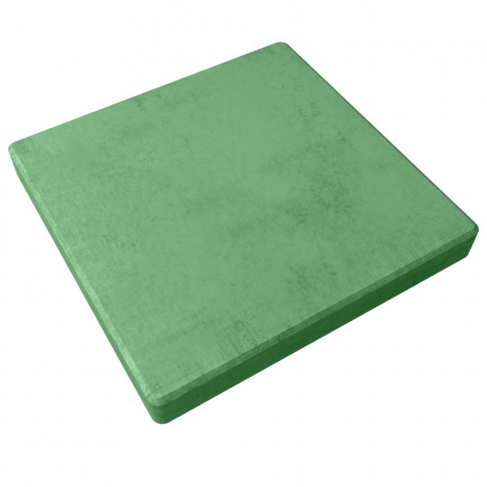Тротуарная плитка Гладкая зеленая 400х400х50 мм