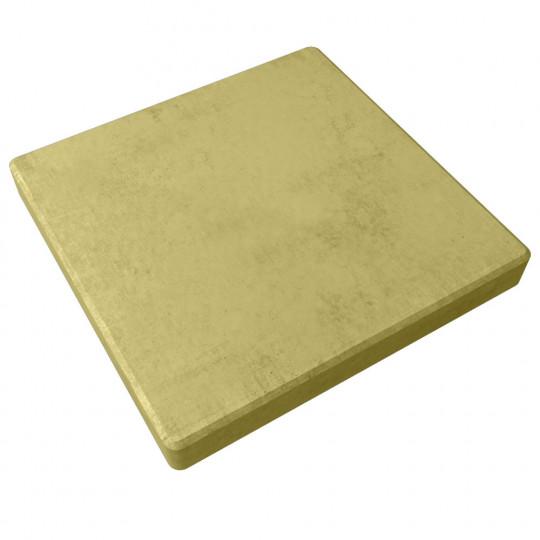 Тротуарная плитка Гладкая желтая 500х500х60 мм