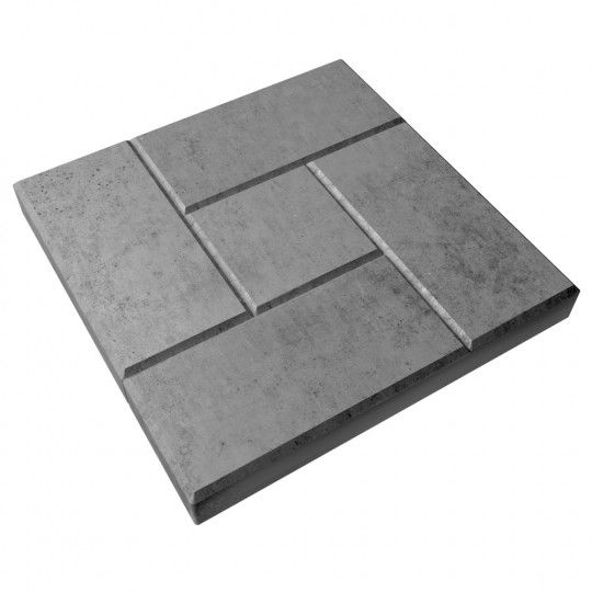 Тротуарная плитка Калифорния серая 300х300х30 мм