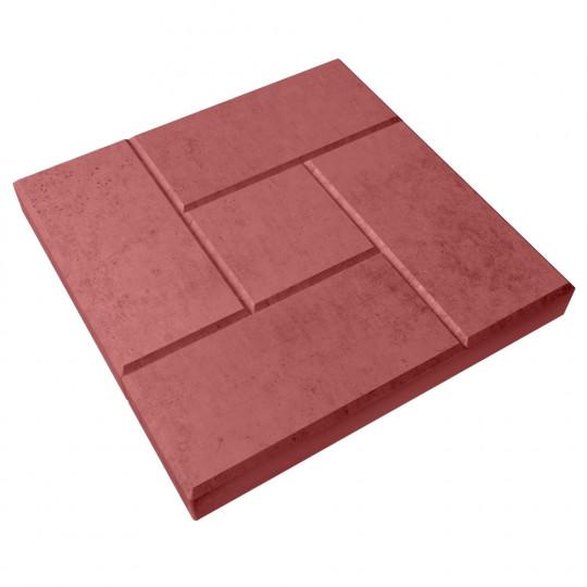 Тротуарная плитка Калифорния красная 300х300х30 мм