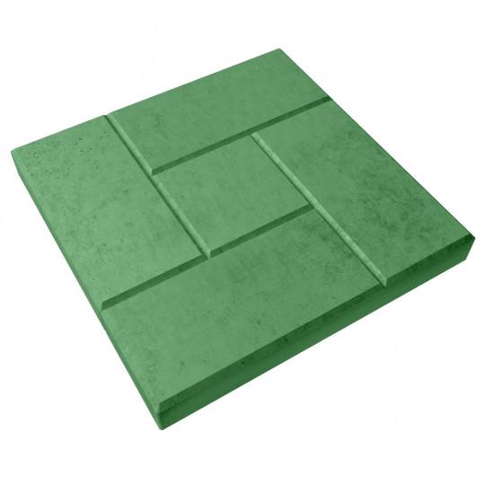 Тротуарная плитка Калифорния зеленая 300х300х30 мм