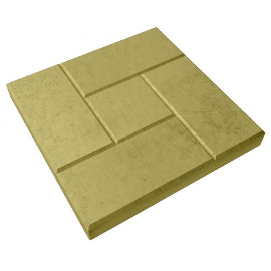 Тротуарная плитка Калифорния желтая 300х300х30 мм