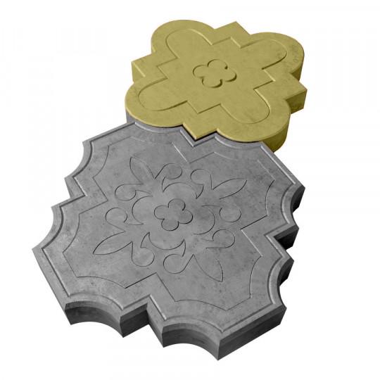 Тротуарная плитка Клевер краковский желтая 300х300х45 мм