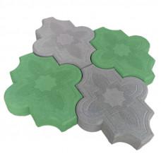 Клевер узорный зеленая 267х218х40