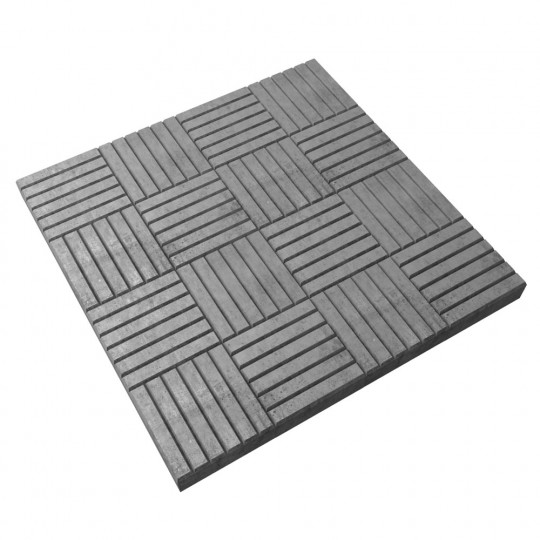 Тротуарная плитка Паркет серая 300х300х30 мм