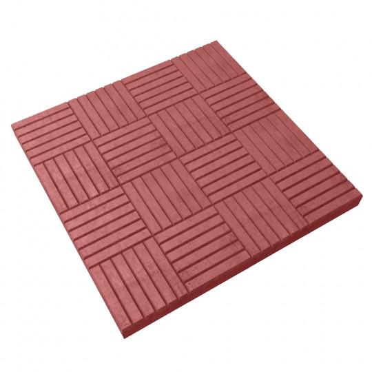Тротуарная плитка Паркет красная 300х300х30 мм