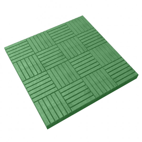 Тротуарная плитка Паркет зеленая 300х300х30 мм