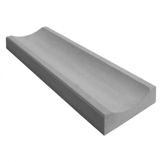 Желоб водосточный бетонный серый